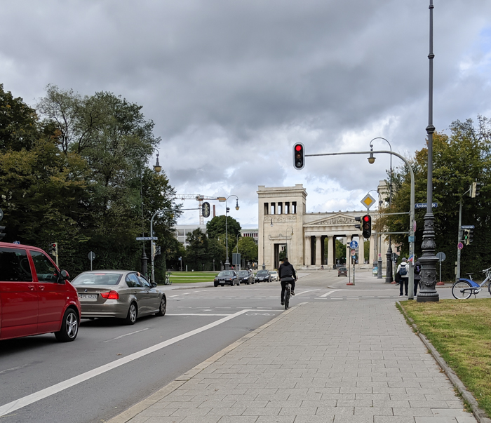 View of Königsplatz from entrance | Munich NS-documentation Center in Munich, Germany | Nazi history, Adolf Hitler headquarters