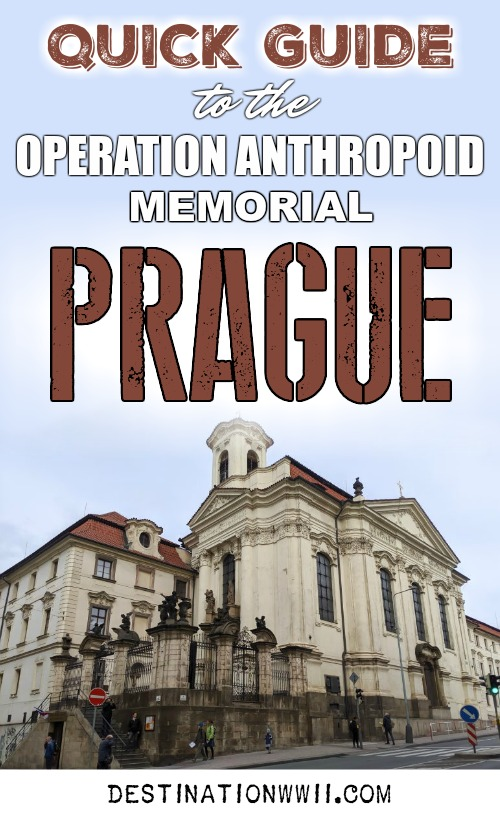 Operation Anthropoid memorial in Prague, Czech Republic (Czechia) | WWII sites in Prague | Nazi leader Reinhard Heydrich assassination | Saints Cyril and Methodius Cathedral #Prague #czechia #czechrepublic #wwii #ww2 #destinationwwii #ww2travel
