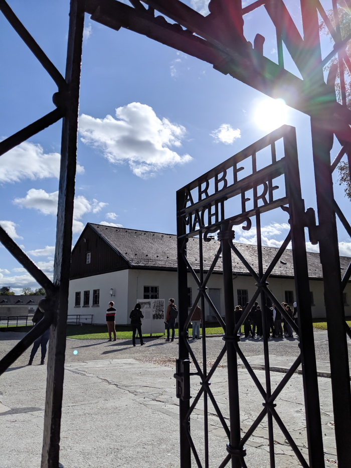 Complete Guide to Visiting Dachau Concentration Camp | Munich, Germany | Religious memorials | Main gate, arbeit macht frei