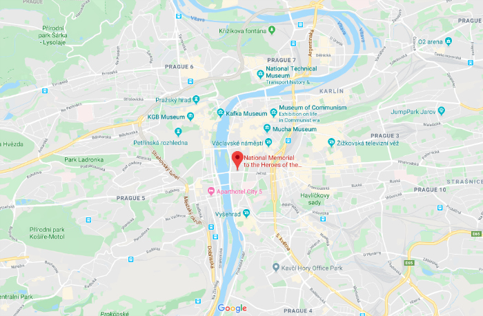 Where is the Operation Anthropoid memorial? Prague, Czech Republic (Czechia) | WWII sites in Prague | Nazi leader Reinhard Heydrich assassination