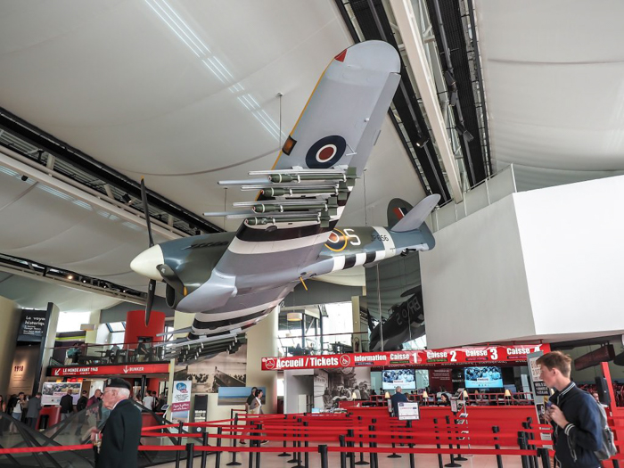 Plane on display at Caen Memorial Museum | 7 of the Best D-Day Sites to Visit in Normandy If You Have Just 1 Day | Normandy, France WWII sites and World War II history | #wwii #normandy #dday #omahabeach