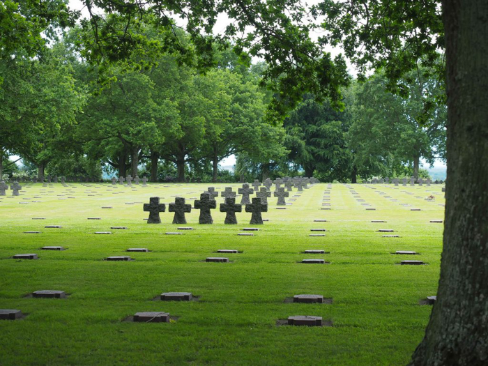 grave markers at La Cambe German War Cemetery | 7 of the Best D-Day Sites to Visit in Normandy If You Have Just 1 Day | Normandy, France WWII sites and World War II history | #wwii #normandy #dday #germany
