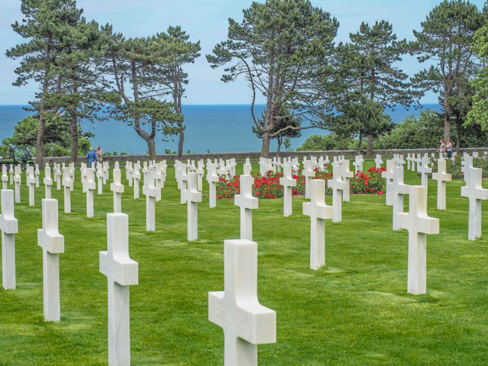 Normandy American Cemetery, white crosses | 7 of the Best D-Day Sites to Visit in Normandy If You Have Just 1 Day | Normandy, France WWII sites and World War II history | #wwii #normandy #dday #omahabeach