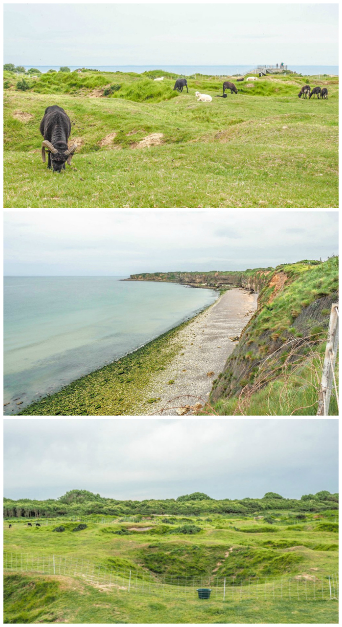bomb craters of Pointe du Hoc | 7 of the Best D-Day Sites to Visit in Normandy If You Have Just 1 Day | Normandy, France WWII sites and World War II history | #wwii #normandy #dday #omahabeach