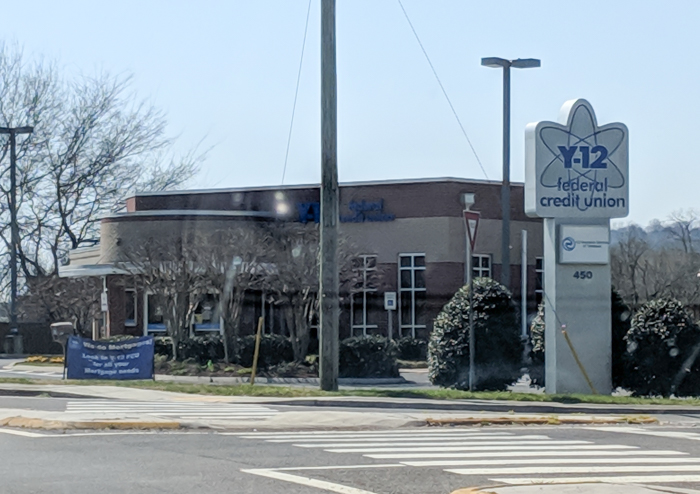 Y-12 Credit Union   How to Visit Manhattan Project sites in Oak Ridge, Tennessee   World War II museum, Oak Ridge National Laboratory, Atomic City, Secret City, US Department of Energy, American Museum of Science and Energy #oakridge #tennessee #worldwarii #atomicbomb #manhattanproject