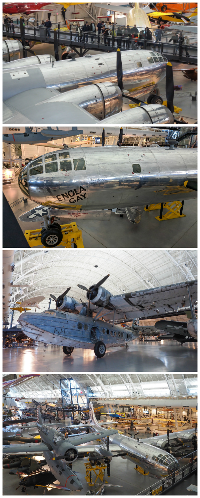 WWII Sites in Washington DC and Arlington, Virginia that you shouldn't miss | Smithsonian National Air and Space Museum, Stephen F. Udvar-Hazy Center, Enola Gay