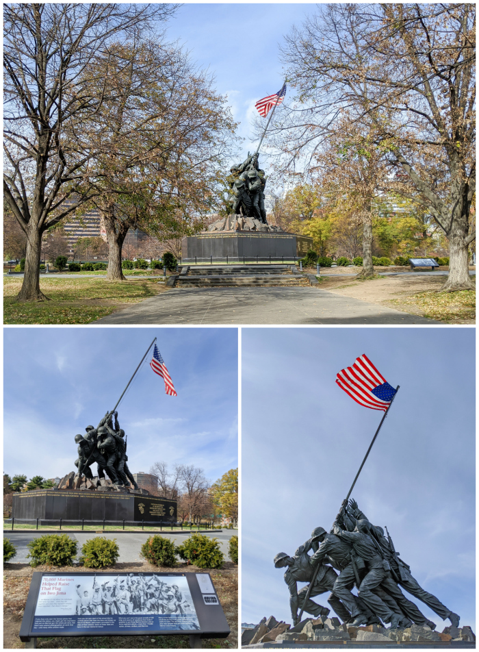 WWII Sites in Washington DC and Arlington, Virginia that you shouldn't miss | Marine Corps War Memorial - also known as the Iwo Jima Memorial
