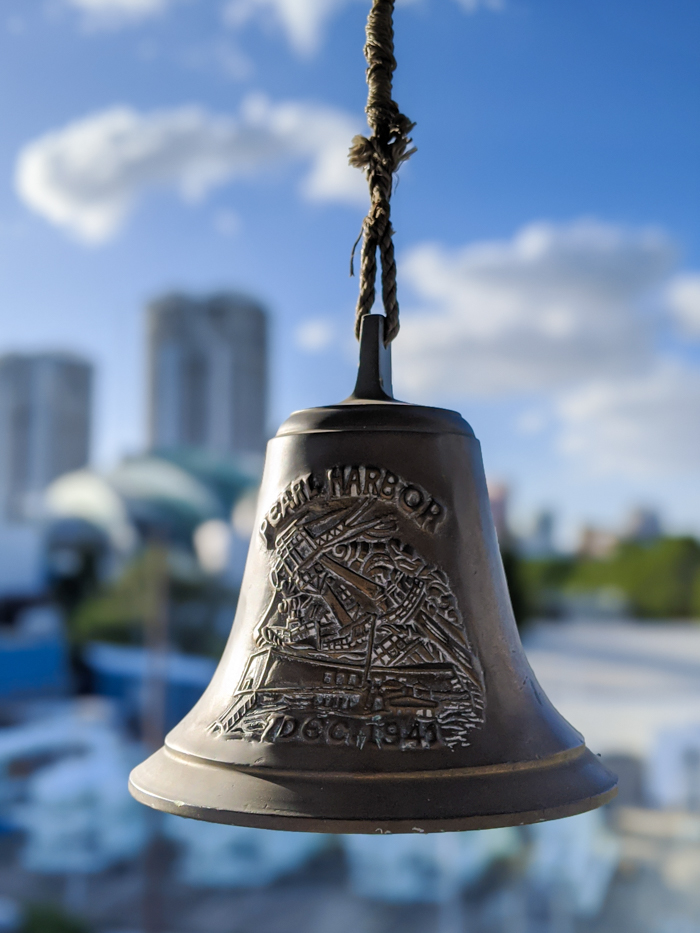 pearl harbor bell | 9 Tips for Visiting the SS American Victory Ship and Museum in Tampa, Florida #tampa #florida #worldwarii #wwii #anchor #battleship
