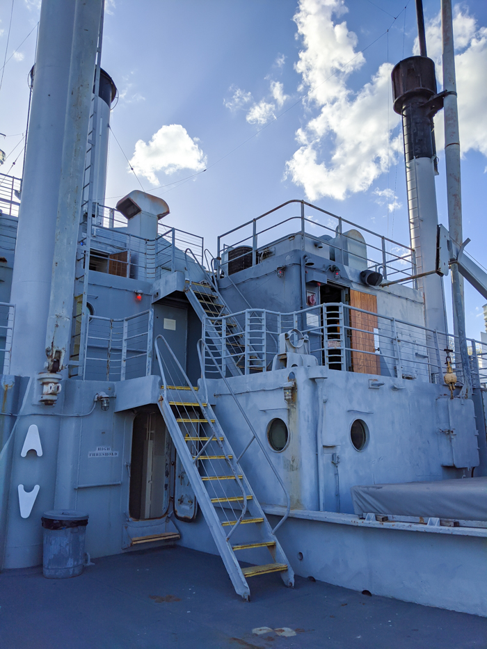 ship's deck | 9 Tips for Visiting the SS American Victory Ship and Museum in Tampa, Florida #tampa #florida #worldwarii #wwii #anchor #battleship