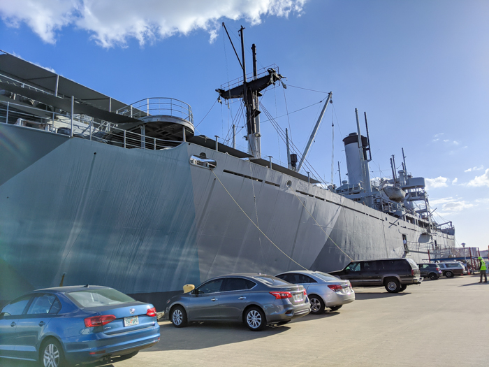side of the ship | 9 Tips for Visiting the SS American Victory Ship and Museum in Tampa, Florida #tampa #florida #worldwarii #wwii #anchor #battleship