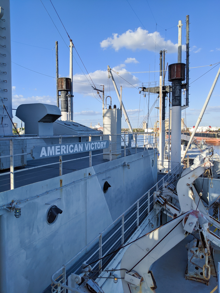 side | 9 Tips for Visiting the SS American Victory Ship and Museum in Tampa, Florida #tampa #florida #worldwarii #wwii #anchor #battleship