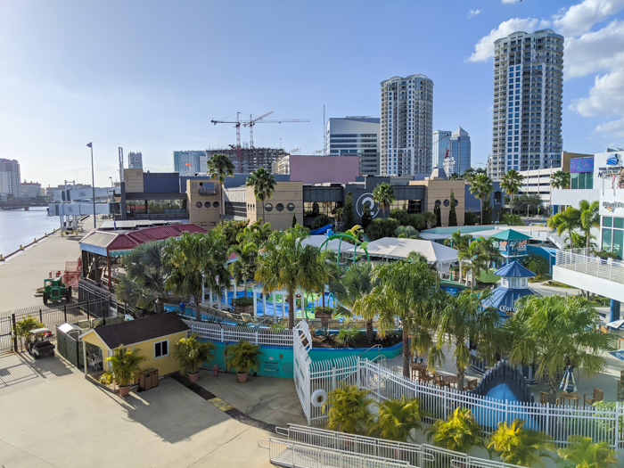 view of florida aquarium from the ship | 9 Tips for Visiting the SS American Victory Ship and Museum in Tampa, Florida #tampa #florida #worldwarii #wwii #anchor #battleship