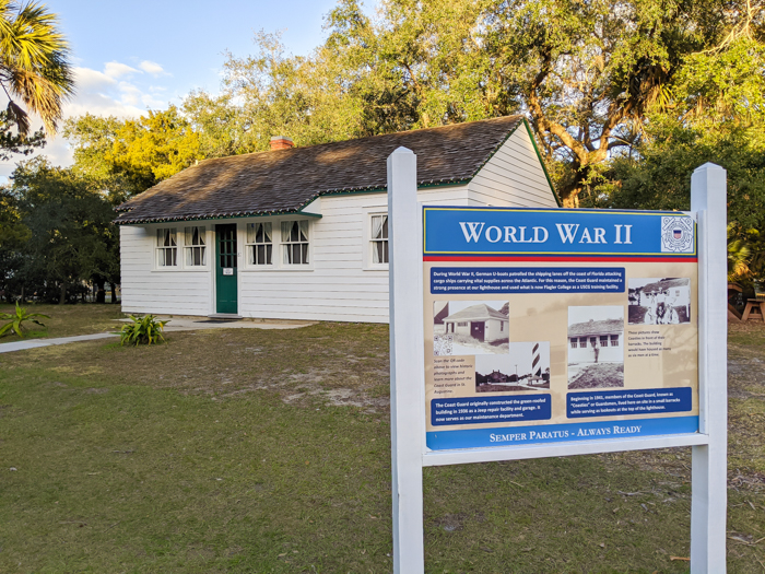 St. Augustine Lighthouse and Maritime Museum, Coast Guard barracks   WWII Sites in St. Augustine, Florida - America's Oldest City   #staugustine #ancientcity #florida #wwiitravel #destinationwwii #worldwarii #lighthouse