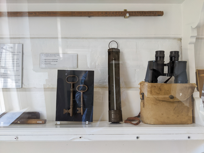 St. Augustine Lighthouse and Maritime Museum, binoculars   WWII Sites in St. Augustine, Florida - America's Oldest City   #staugustine #ancientcity #florida #wwiitravel #destinationwwii #worldwarii #lighthouse