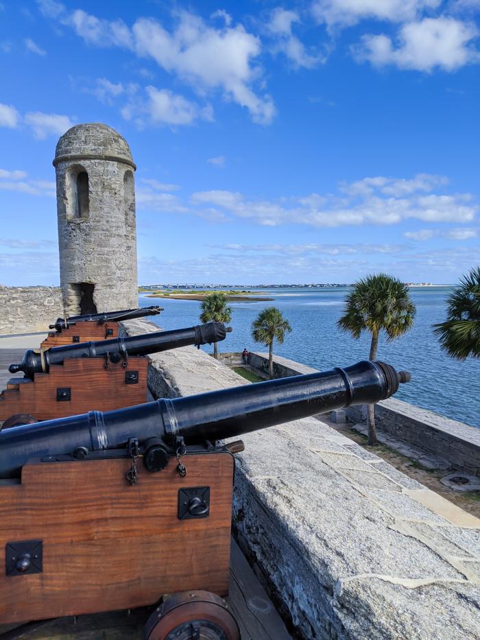 Castillo de San Marcos fort, National Park Service   WWII Sites in St. Augustine, Florida - America's Oldest City   #staugustine #ancientcity #florida #wwiitravel #destinationwwii #worldwarii