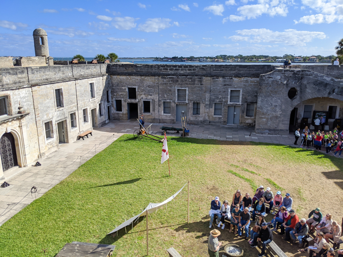 Castillo de San Marcos fort, National Park Service | WWII Sites in St. Augustine, Florida - America's Oldest City | #staugustine #ancientcity #florida #wwiitravel #destinationwwii #worldwarii