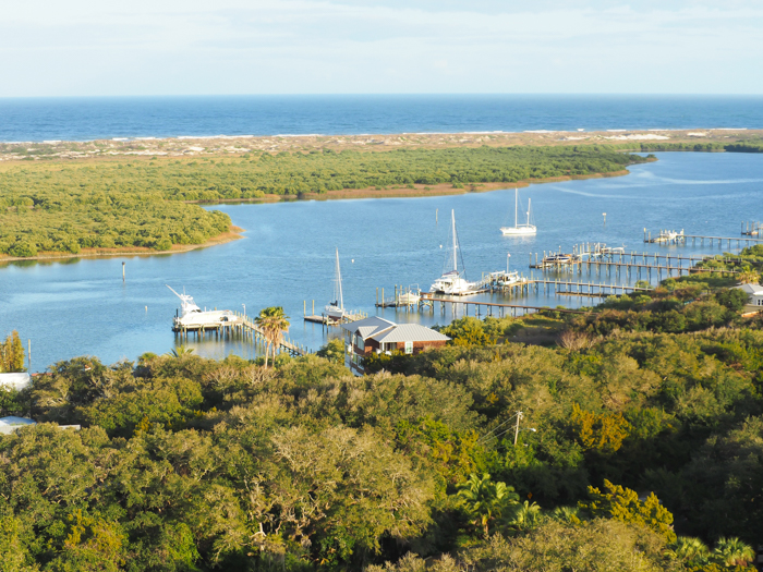 St. Augustine Lighthouse and Maritime Museum, view from the lighthouse | WWII Sites in St. Augustine, Florida - America's Oldest City | #staugustine #ancientcity #florida #wwiitravel #destinationwwii #worldwarii #lighthouse