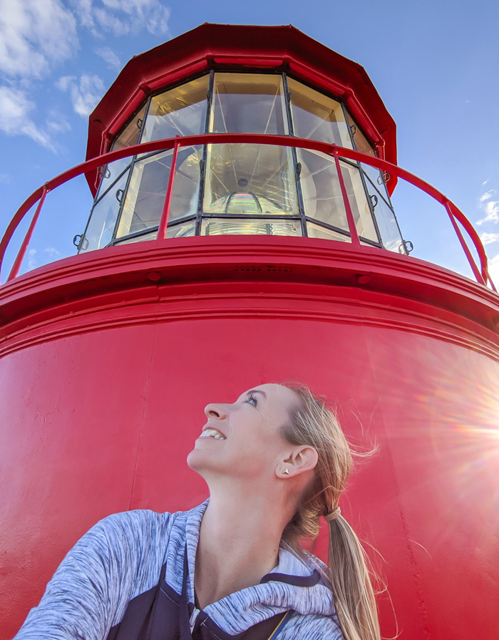 St. Augustine Lighthouse and Maritime Museum, at the top of the lighthouse   WWII Sites in St. Augustine, Florida - America's Oldest City   #staugustine #ancientcity #florida #wwiitravel #destinationwwii #worldwarii #lighthouse
