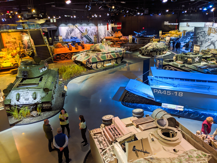 Display floor / Visiting the American Heritage Museum: All Things Related to WWII Transportation / WWII museum / WWII tanks, WWII airplanes, WWII vehicles, and more! Hudson, Massachusetts, Collings Foundation #hudsonma #massachusetts #boston #wwiimuseum #wwiitank #wwiiplane