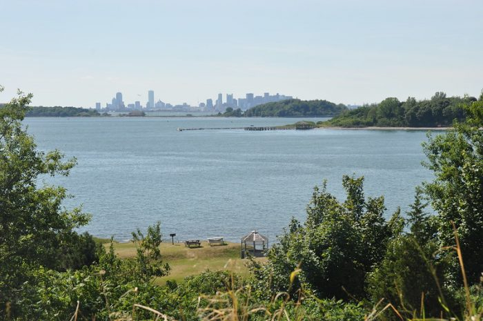 WWII sites in Boston, Massachusetts - abandoned war bunkers on Boston Harbor Islands