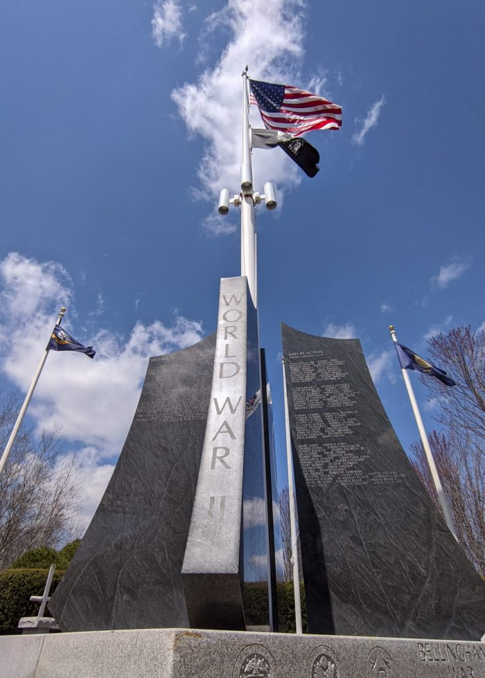 Bellingham War Memorial, Bellingham, Massachusetts | WWII sites in Massachusetts