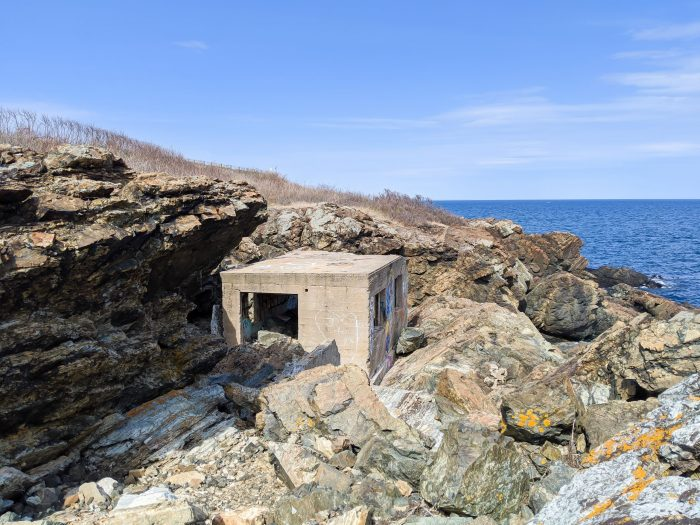 Abandoned WWII bunkers at East Point Military Reservation in Nahant / WWII sites in Massachusetts