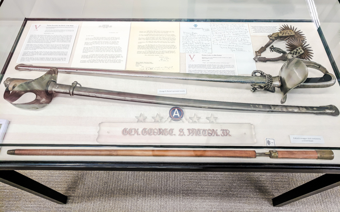 George Patton's sword at the now-defunct International Museum of WWII in Natick / WWII sites in Massachusetts