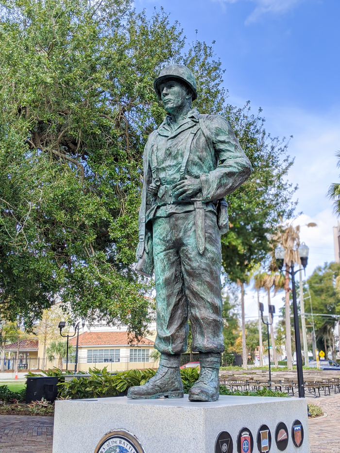 WWII sites in Orlando and thereabouts - World War II sites in and around Central Florida / Battle of the Bulge Memorial in downtown Orlando