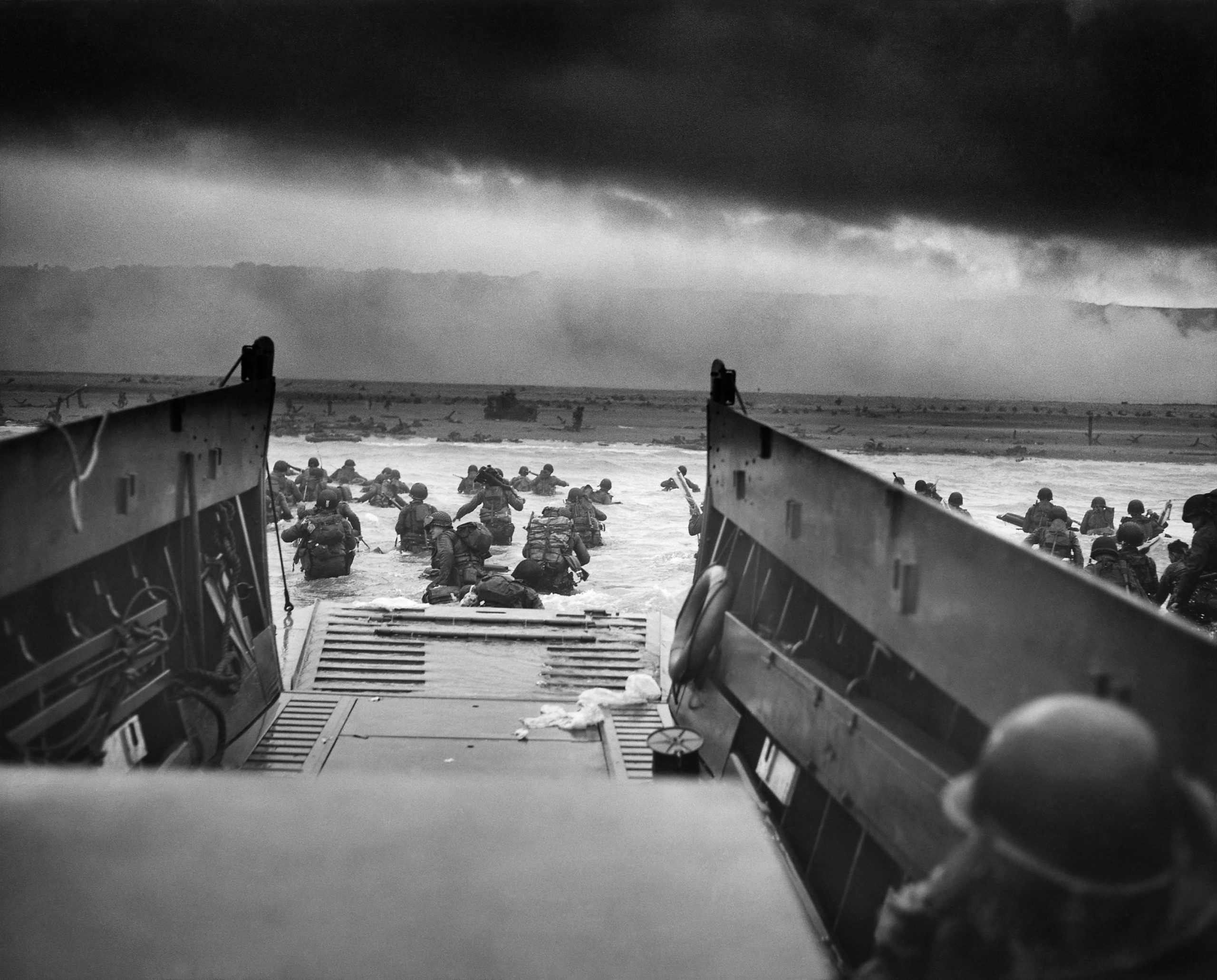 Troops landing on Omaha Beach, Normandy on D-Day