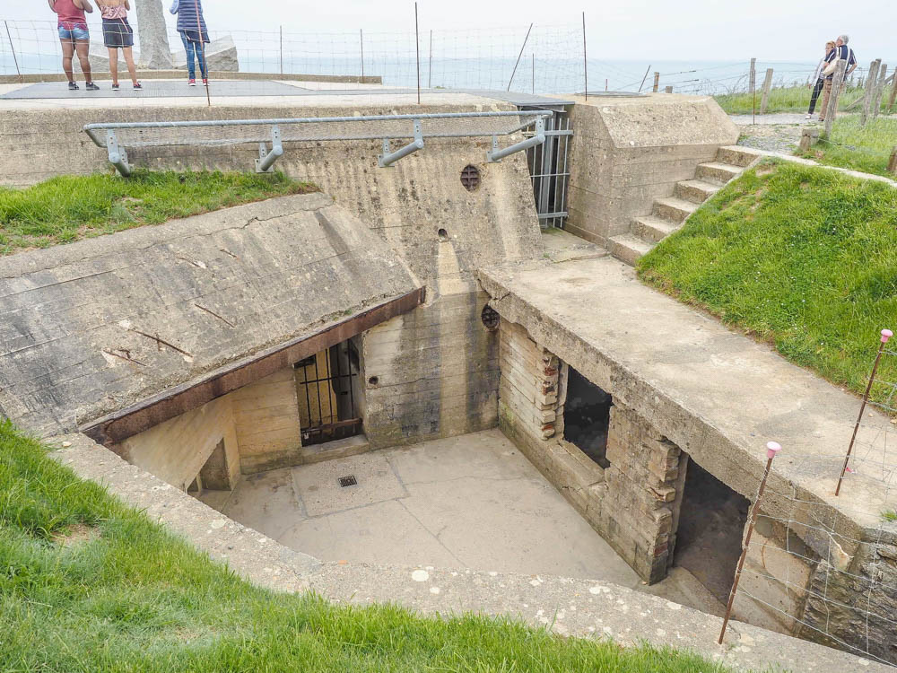 What to see at Omaha Beach, Normandy, France: Pointe du Hoc German Bunker
