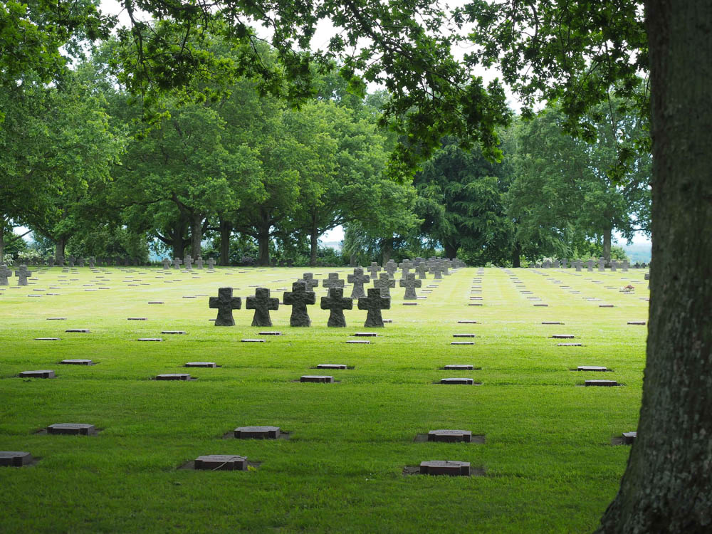 What to see at Omaha Beach, Normandy, France: La Cambe German War Cemetery