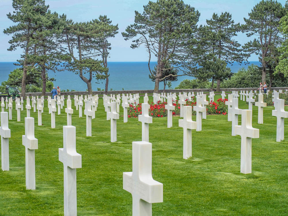 What to see at Omaha Beach, Normandy, France: Normandy American Cemetery crosses