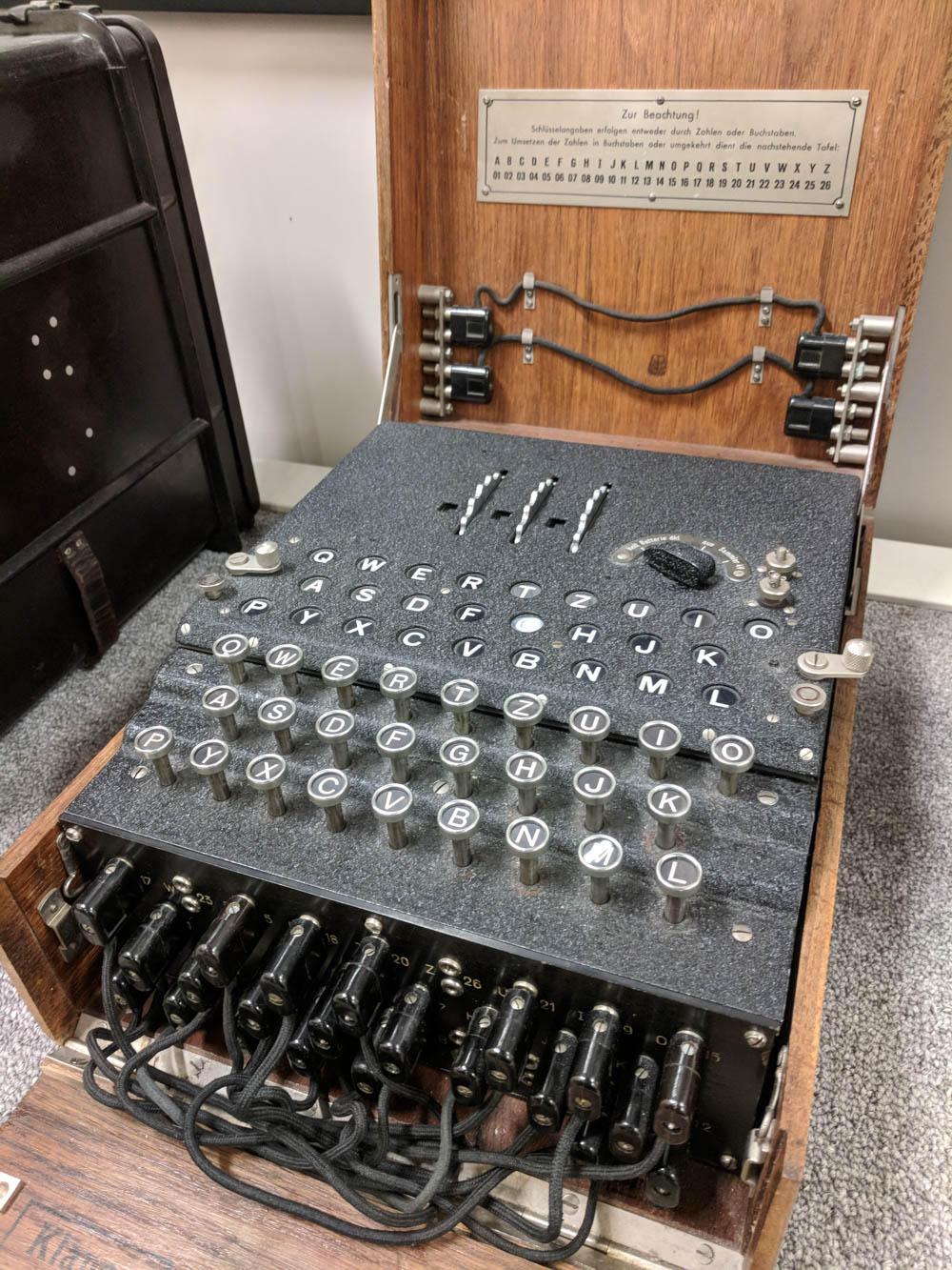 What to see at Omaha Beach, Normandy, France: enigma machine