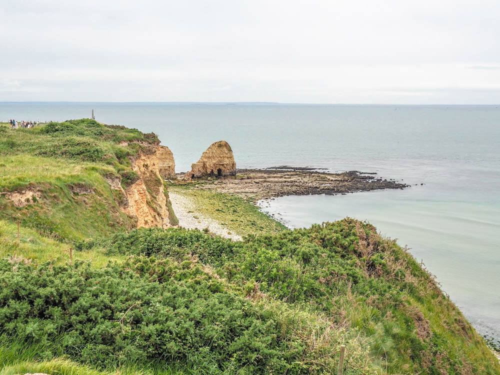 What to see at Omaha Beach, Normandy, France: the cliffs of Pointe du Hoc