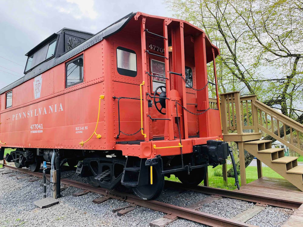 WWII hotels and Airbnbs around the world | Vintage train caboose, lock haven, pennsylvania