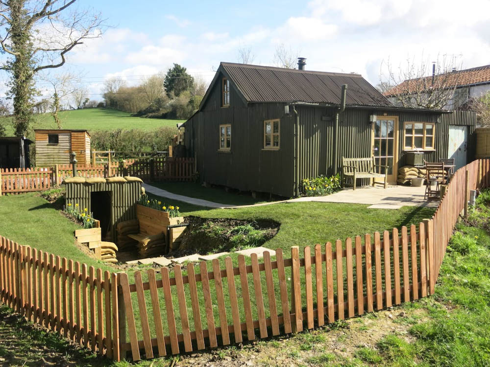 WWII hotels and Airbnbs around the world | Corrugated Cottage, Somerset, England