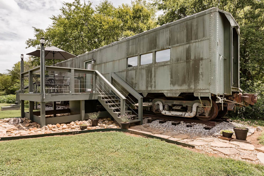 WWII hotels and Airbnbs around the world | Converted WWII train car, Maryville, Tennessee