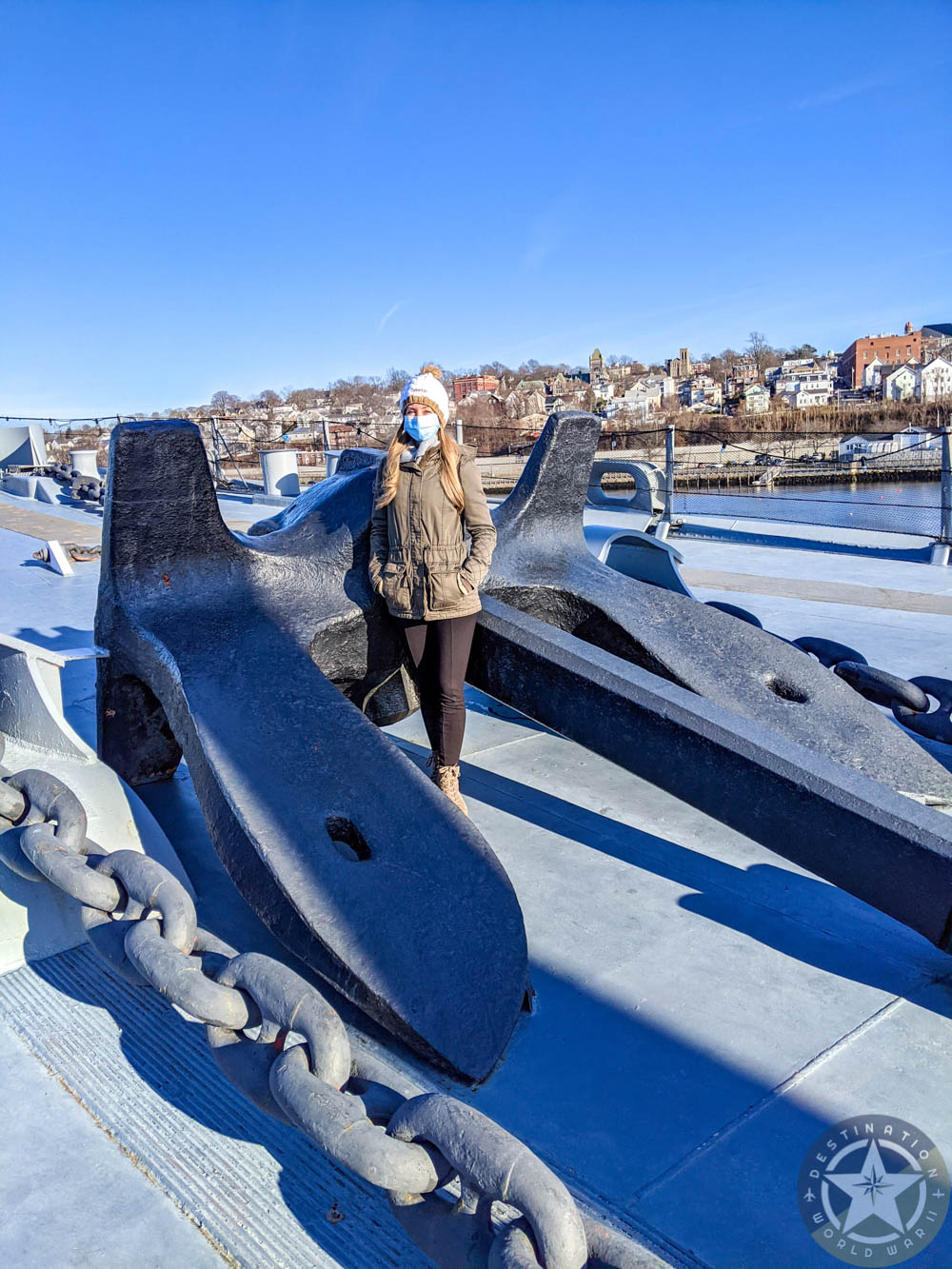 Big anchor on the USS Massachusetts | 7 Reasons U.S. Battleship Museums are the Best Museums | USS Massachusetts, Battleship Cove, Fall River, Massachusetts