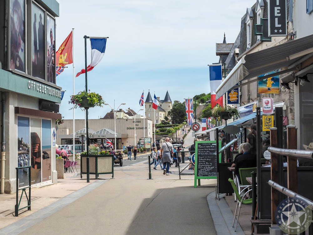 View of town center, arromanches normandy france