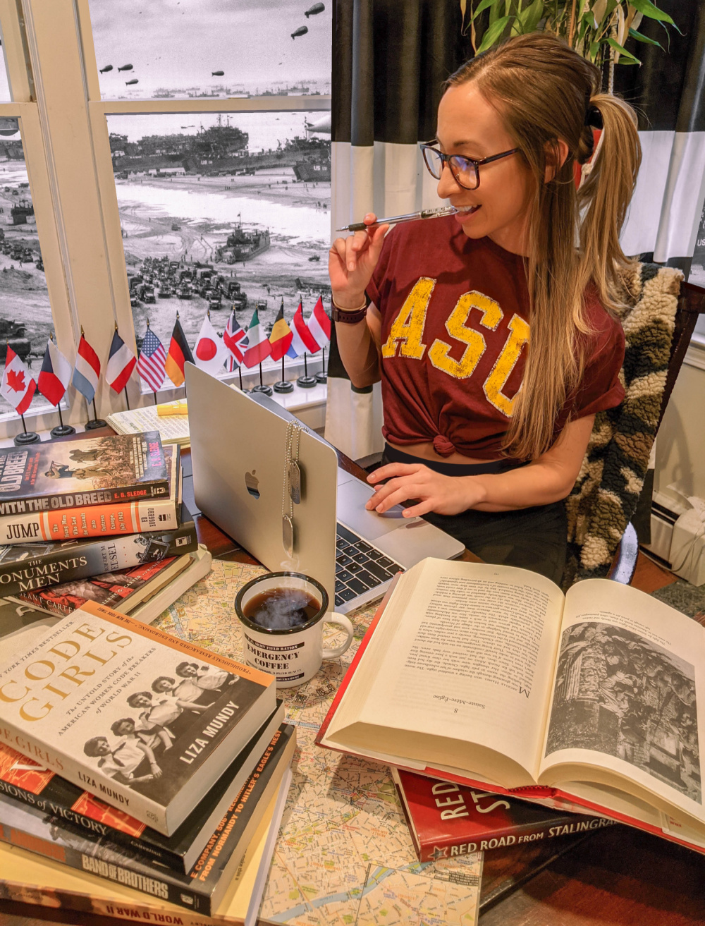 Masters degree in World War II Studies from Arizona State University and the National WWII Museum